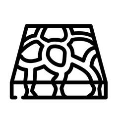Stone floor line icon vector