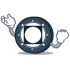 Successful byteball bytes coin character cartoon vector
