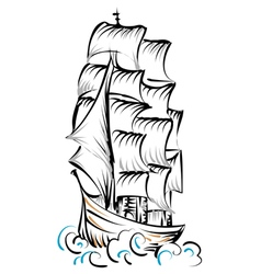 tall ship vector image