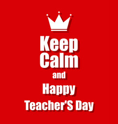 teachers day background with a red background vector image