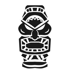 Totem idol icon simple style vector