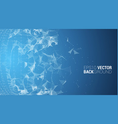 triangle mosaic background design vector image