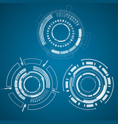 trio set of realistic technology collection vector image