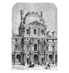 Turgot pavilion of the new louvre vintage vector