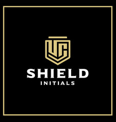 Uc shield logo vector