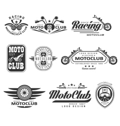Vintage Motorcycle Labels Badges and Design vector