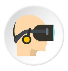 Vr headset icon circle vector