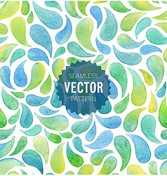 Watercolor seamless geometric pattern vector
