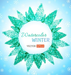 Watercolor winter background vector image