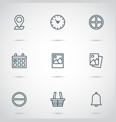 Web icons set collection of refuse image vector
