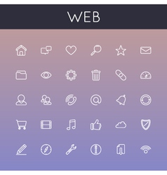 Web Line Icons vector image