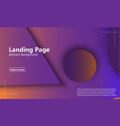 website landing page geometric background minimal vector image