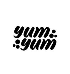 Yum yum text vector