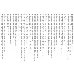 binary code background falling streaming binary vector image