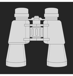 Binoculars icon Chalk vector image