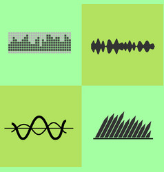 equalizer interface variants vector image vector image
