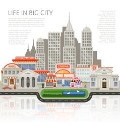 Life in big city design vector