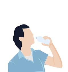 man bottle drinking water Graphic vector image vector image