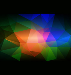 Pink green blue low poly background vector