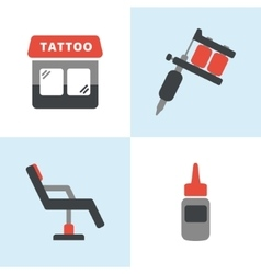 Tattoo icons vector