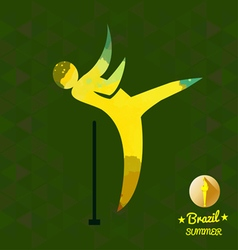 Brazil summer sport card with an yellow abstract h vector image vector image