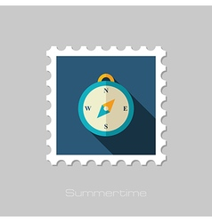 Compass flat stamp Summer Marine vector image vector image
