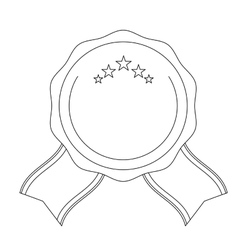 Decorative seal stamp icon vector