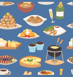 french food traditional delicious cuisine vector image vector image
