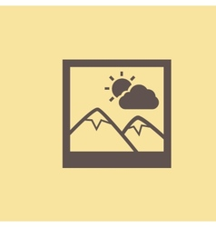 Inage Flat Icon vector image