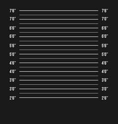 mugshot police police mugshot lineup vector image