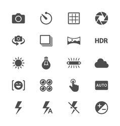 Photography flat icons vector image