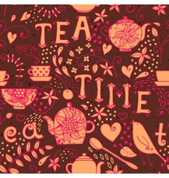 Seamless pattern - Tea Time vector image vector image