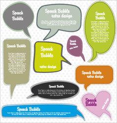 speech bubbles retro design vector image