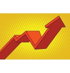 up arrow chart sales vector image