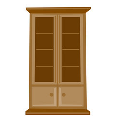 classic wooden cabinet cartoon vector image