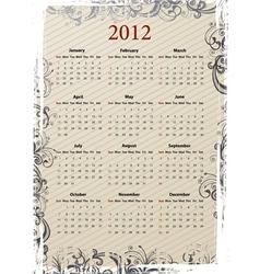 european beige calendar vector image vector image