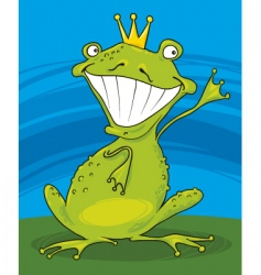prince frog vector image vector image