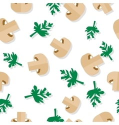 Seamless Pattern with Agaric Field Mushrooms vector image