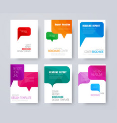 set of a4 covers with multi-colored bubbles vector image