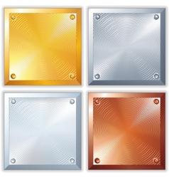 Shiny Metal Signs vector image vector image