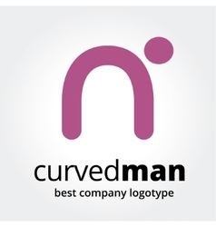 Abstract human logotype concept isolated on white vector image vector image