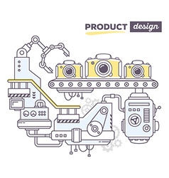creative professional mechanism to produc vector image