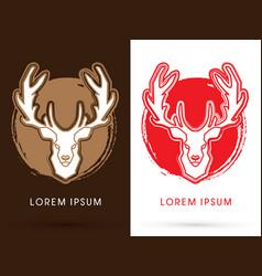 deer head big horn vector image vector image