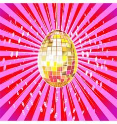 disco egg vector image vector image