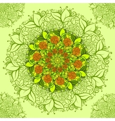 Intricate flower pattern floral vector image