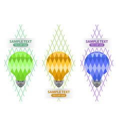 lightbulb logo creativity and idea vector image