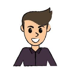 portrait man avatar comic image vector image