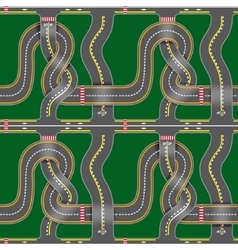 Seamless road map vector image vector image