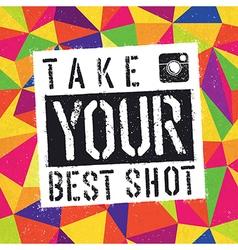 take best shot vector image vector image