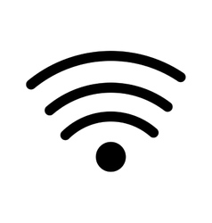 wifi sign isolated icon vector image